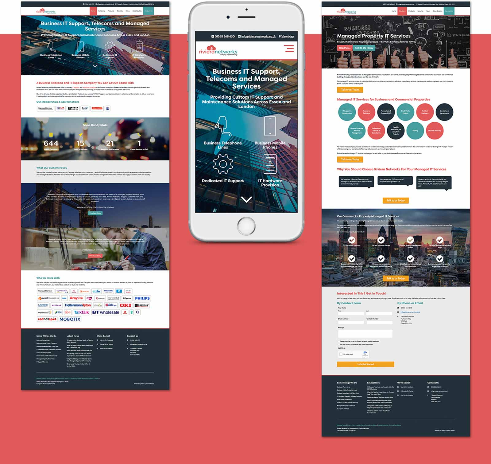 Riviera Networks New Responsive Website Design