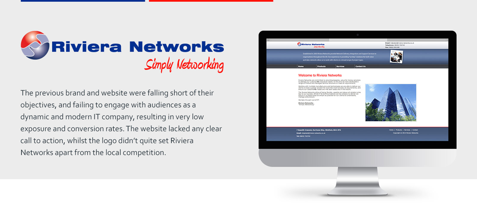 Rebranding of old Riviera Networks Brand and Website