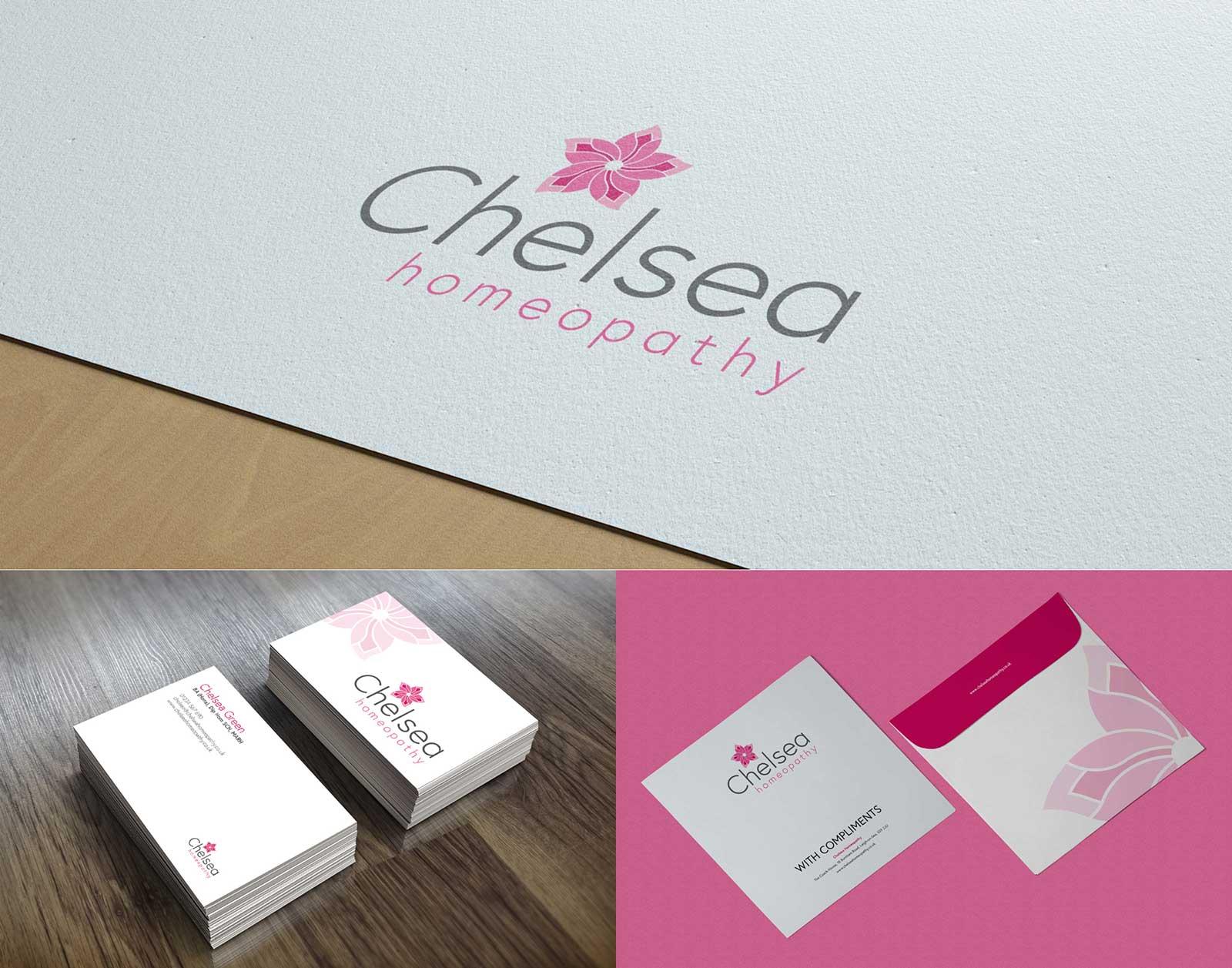 Chelsea Homeopathy Brand & Logo design Mockups