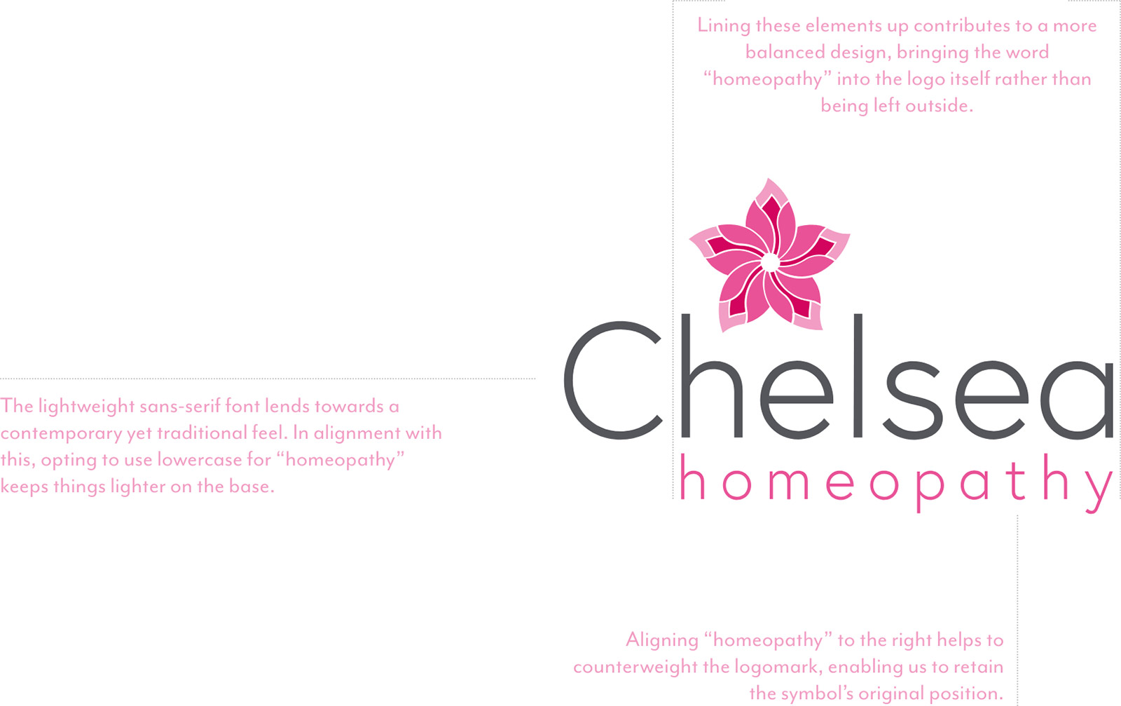 Chelsea Homeopathy Leigh on Sea Essex Logo design balance