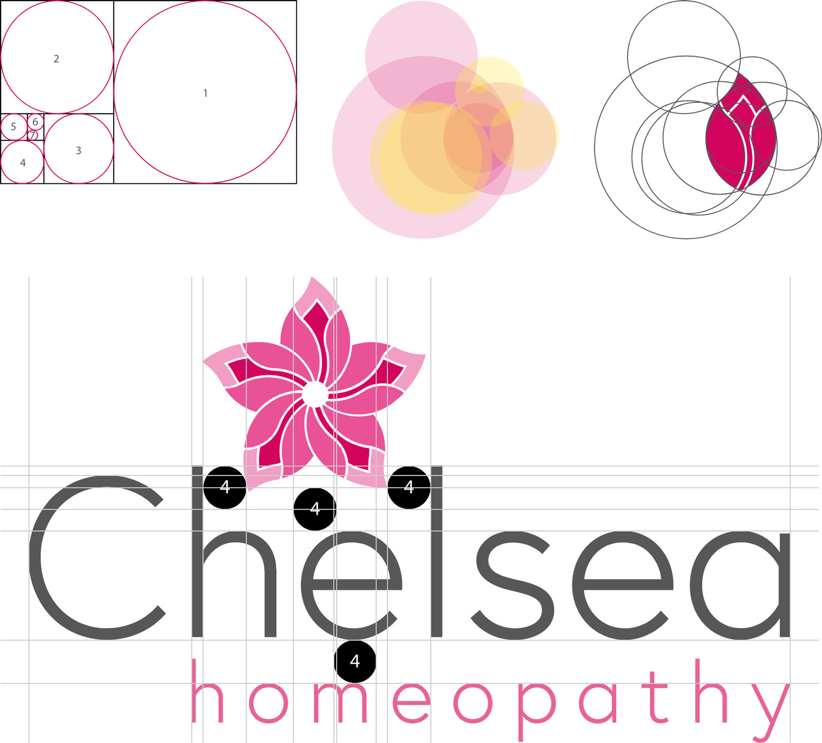 Chelsea Homeopathy Symbol Creation Using Golden Ratio