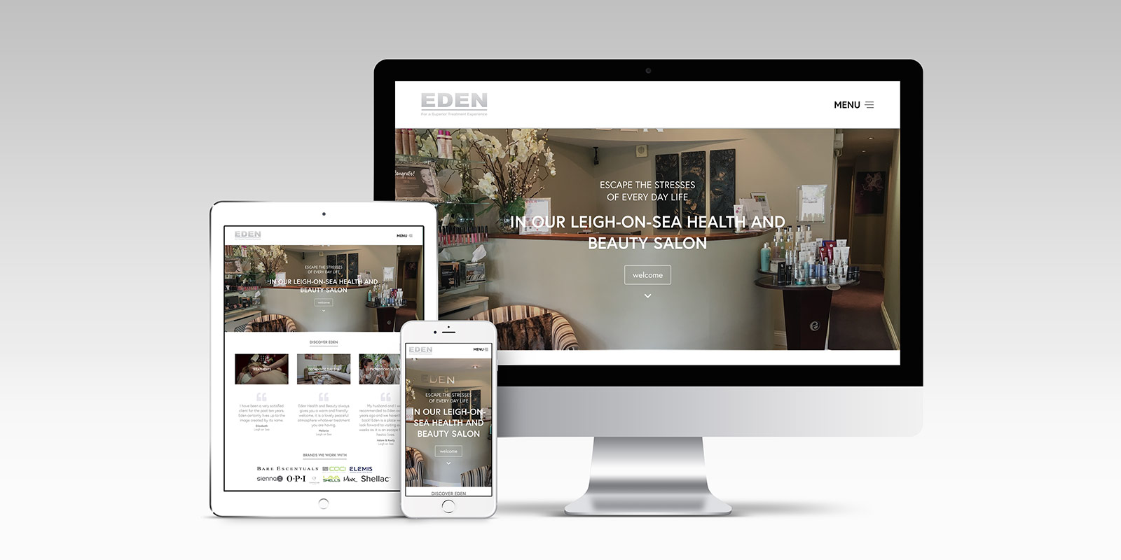 Eden Health & Beauty | Responsive Website Design by Atom Creative Media