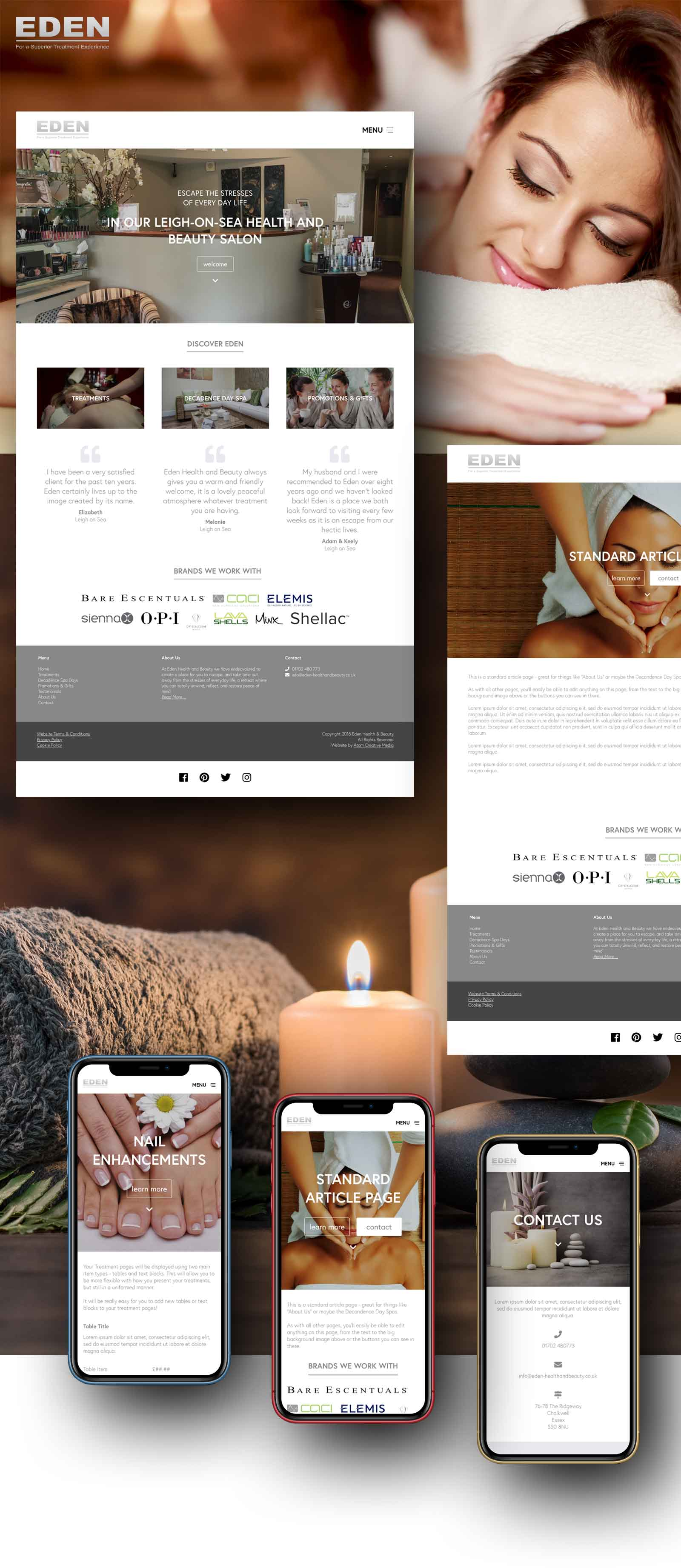 Eden Health and Beauty Responsive Website Design by Atom Creative Media