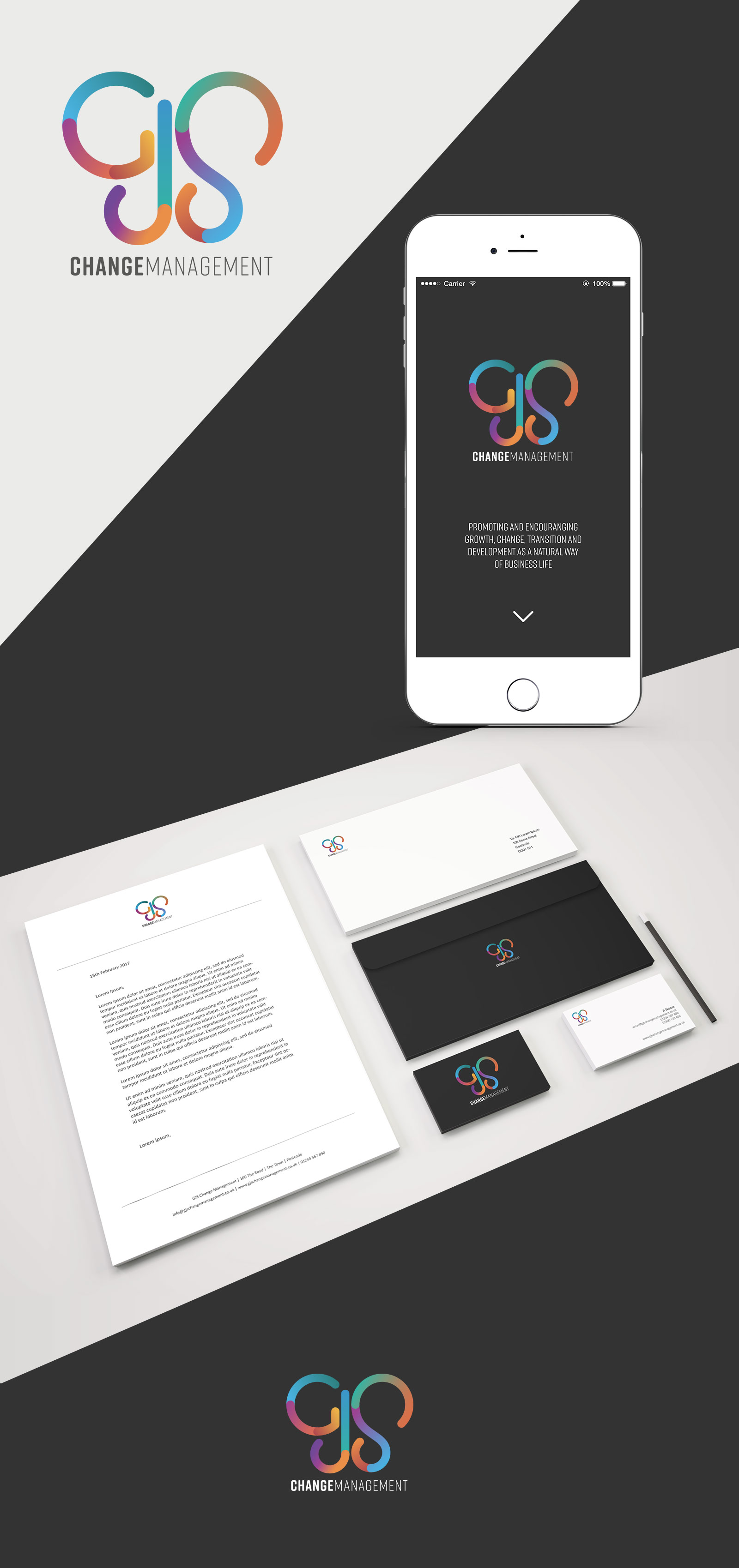 GJS Change Management Web design and branding