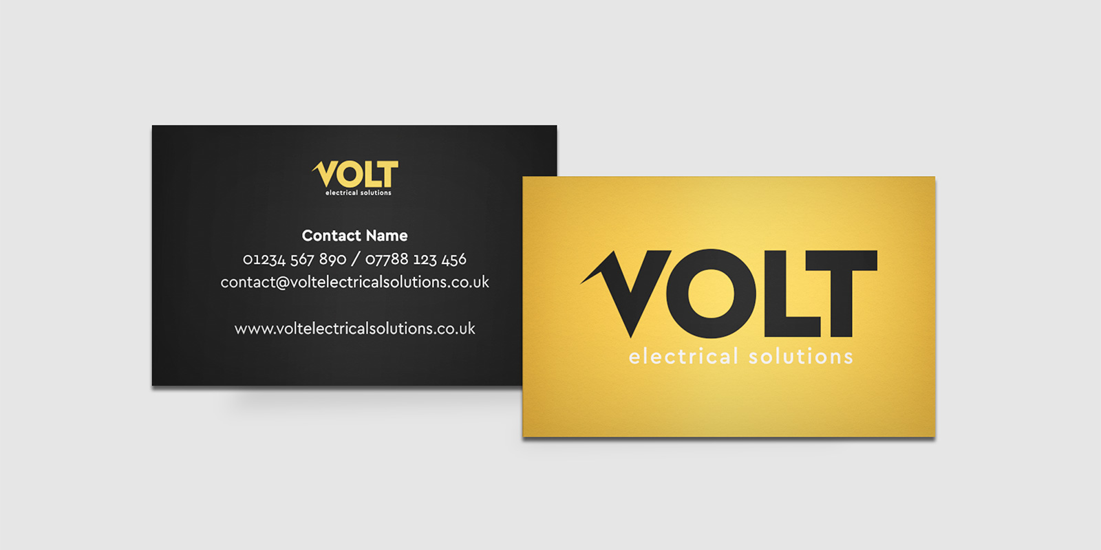 Volt Electrical Solutions Branded Business Cards