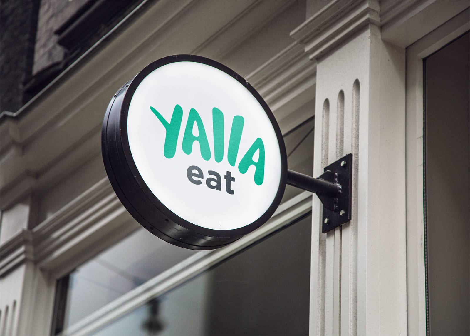 Yalla Eat Branded Hanging Wall Sign