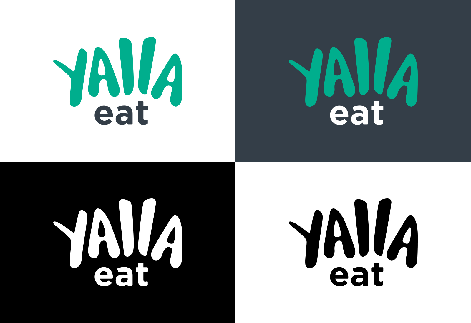 Design concept of Yalla eat logo