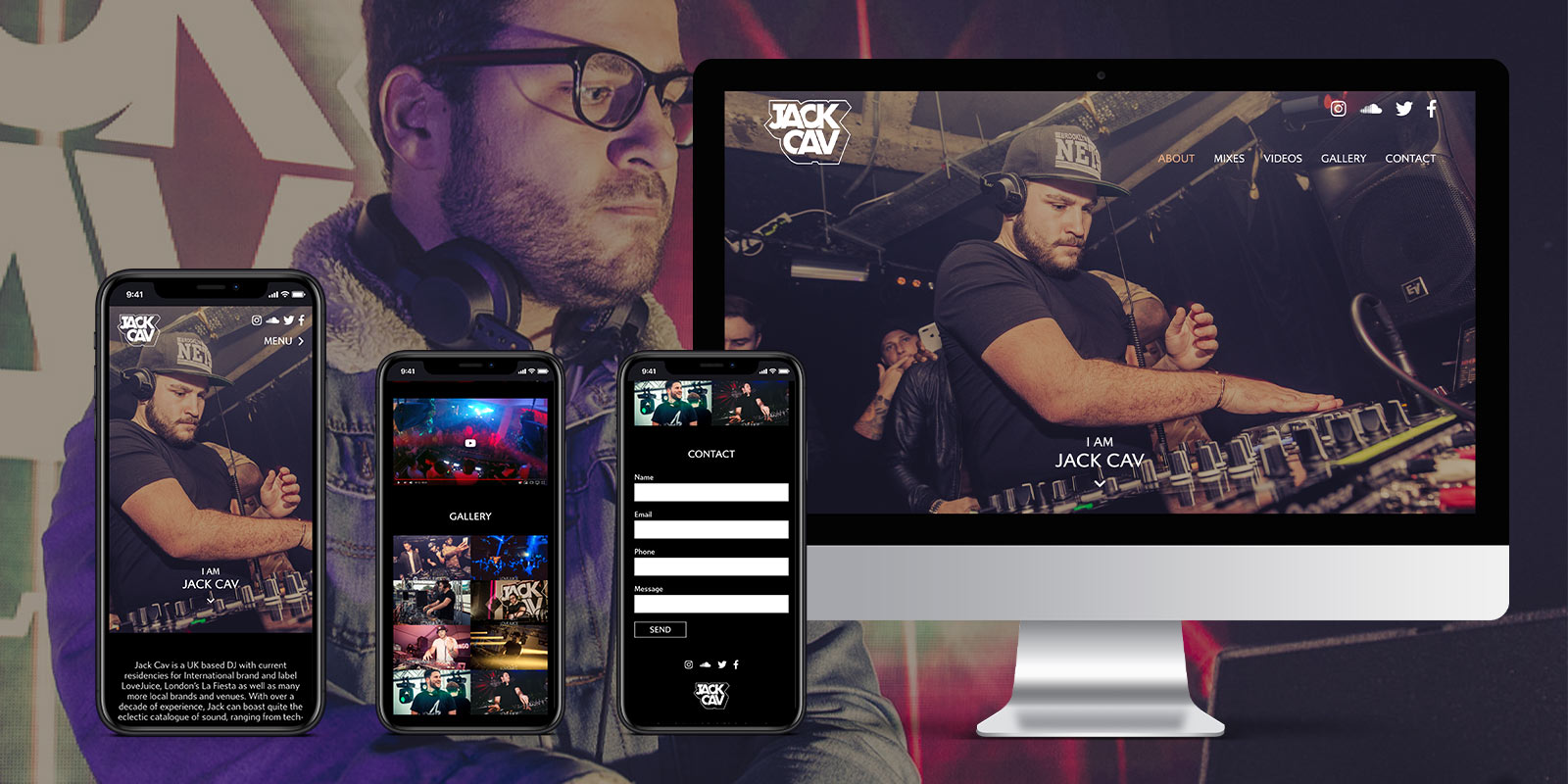 Jack Cav - Website Design by Atom Creative Media